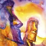 """Easter Island16x24"" by RFoxWatercolors"