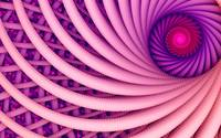 Abstract fantasy swirl tunnel with pink and purple