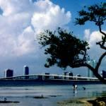 """""""Miami Skyline With Stormy Sky"""" by jeanclarke"""