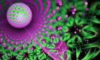 Abstract 3D multi-colored fractal