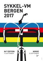 MY ROAD WORLD CHAMPIONSHIPS MINIMAL POSTER 2017