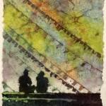 """Nepal Watercolor Batik20x30"" by RFoxWatercolors"