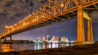 New Orleans Bridge Skyline View