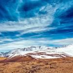 """Snowy mountains"" by oksaprint"