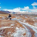 """""""Motorbikes on the road in mountains"""" by oksaprint"""