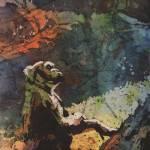 """""""Gorilla watecolor batik22x32"""" by RFoxWatercolors"""