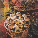 """Onions watercolor batik22x33"" by RFoxWatercolors"