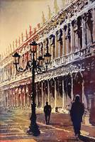 Watercolor painting of St. Mark's Square- Venice