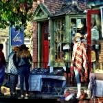 """Sig_ShoppingAlongMainStreet"" by susansartgallery"