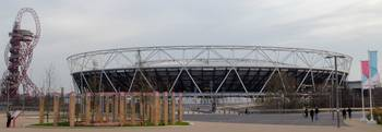 London UK Olympic Park Olympic Stadium