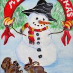 """Christmas Snowman"" by Artworksbyliz"