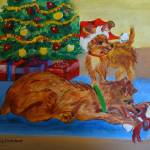 """Christmas Morning Fun puppy style"" by Artworksbyliz"