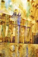 Watercolor painting of Brandenburg Gate- Germany