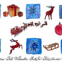 Merry Christmas Medley I Art Prints & Posters by M Bleichner