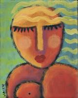 Relax Abstract Portrait of a Woman on Ceramic Tile
