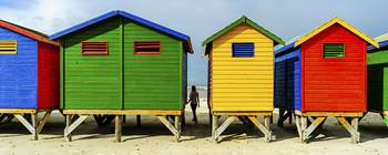 The colourful Victorian bathing boxes