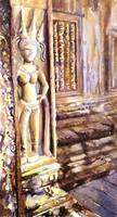 Watercolor painting of Angkor Wat temple- Cambodia