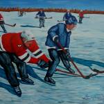 """""""Fighting for the Puck"""" by anthonydunphy"""