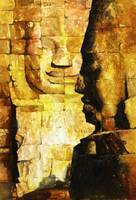 Watercolor painting of Bayon Temple- Angkor Wat