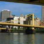 """Pittsburgh Skyline and Bridges 2001"" by Ffooter"
