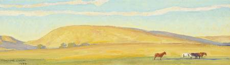 MAYNARD DIXON (1875-1946) Golden Range - Study for