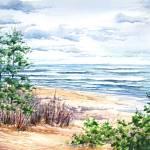 """""""North Pier Beach"""" by kimkloeckerart"""