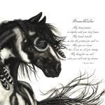 """""""Majestic Horse DreamWalker Poem mm45"""" by AmyLynBihrle"""