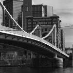 """Pittsburgh Skyline and Bridge 2001"" by Ffooter"
