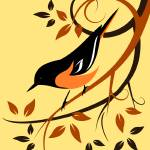 """deco-oriole"" by waterart"