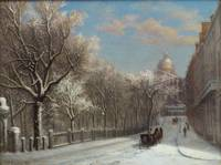 Park Street in Winter, Boston by Sylvester Phelps