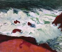 Roderic O'Conor 1860-1940 BLUE SEA AND RED ROCKS,