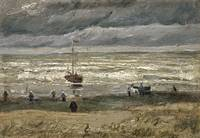 Seascape at Scheveningen, Vincent Van Gogh
