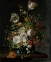 Still Life with Flowers in a Glass Vase, Rachel Ru