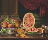 Still Life with Watermelon,  Levi Wells Prentice (
