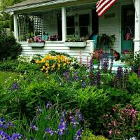 My sister's Porch Art Prints & Posters by Donna Greer