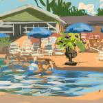 """""""Poolside at the Raven"""" by rogerwhite"""