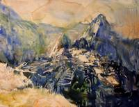 Machu Picchu watercolor painting- Peru