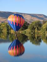 Balloon Gliding on the Yakima River by Carol Groenen