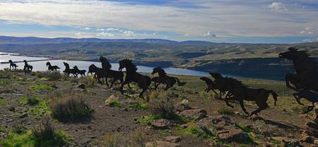 Wild Horses Monument in Washington State