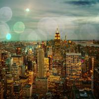 NYC Lights Art Prints & Posters by Joan McCool
