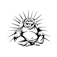 laughing-bulldog-buddha-sitting-front-BW_5000
