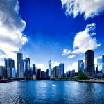 """Chicago skyline II"" by annayanev"