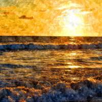 Del Mar Beach Sunset Art Prints & Posters by Ken Chandler