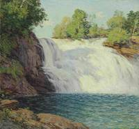 The Waterfall, Willard Leroy Metcalf (1858-1925)