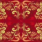 """Whimsical Organic Pattern In Red And Yellow II"" by IrinaSztukowski"