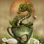 """Tea Dragon"" by SMorrisonArt"