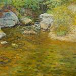 """Trout Brook by John J. Enneking (1841-1916)"" by motionage"