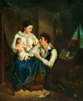 Unknown French painter (19th Century) - A family s