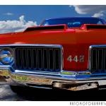 """1970 Oldsmobile 442 Color Poster"" by Automotography"