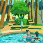 """Pool Ladies Scottsdale AZ enlarged"" by rogerwhite"